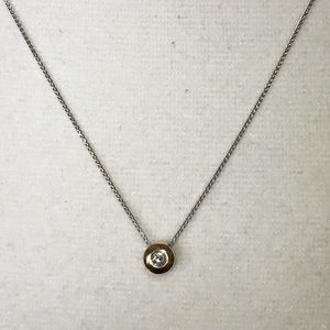 7962a9ae88f Jewelry - 14K White Yellow Gold Natural Diamond Necklace